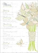 Menu - butterfly wedding bouquet