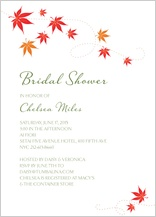 Wedding Shower Invitation - fall leaves