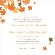 Wedding Invitation - maple leaves