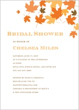 Wedding Shower Invitation - maple leaves