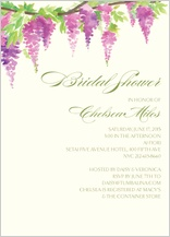 Wedding Shower Invitation - wisteria collection