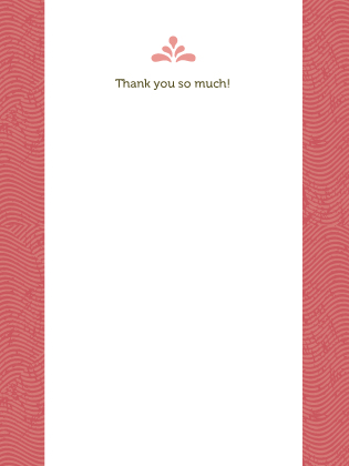 Wedding Thank You Card - Paradise Found