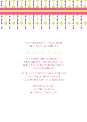 Wedding Invitation - Floral Garland