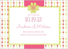 Save the Date Card - floral garland