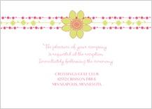 Reception Card - floral garland