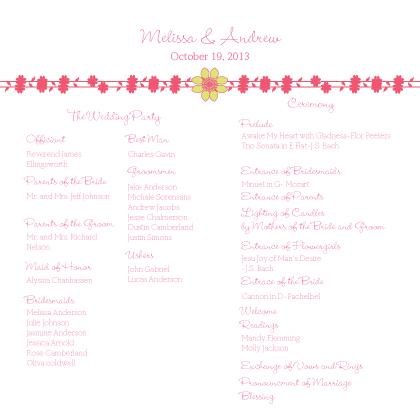 Program - Floral Garland
