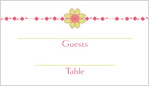 Place Card - floral garland
