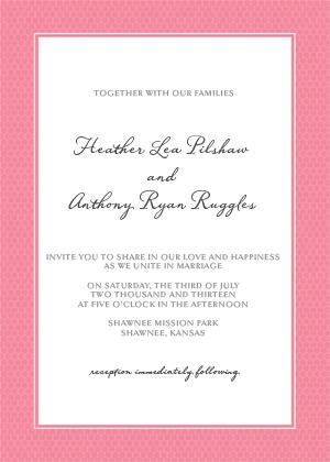 Wedding Invitation - Honey