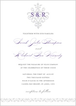 Wedding Invitation - damask monogram