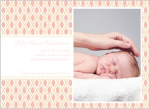 Birth Announcement with photo - sweet mod
