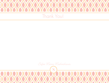 Baby Thank You Card - Sweet Mod