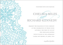 Wedding Invitation - lace