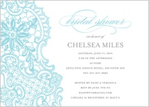 Wedding Shower Invitation - lace