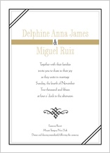 Wedding Invitation - tuxedo
