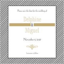 Save the Date Card - tuxedo