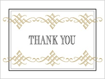 Wedding Thank You Card - tuxedo