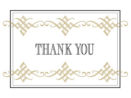 Wedding Thank You Card - Tuxedo
