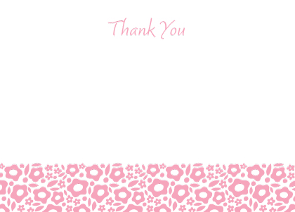 Baby Thank You Card - Sophia
