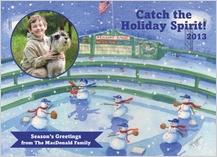 Holiday Cards - baseball snowmen