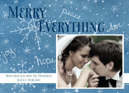 Christmas Cards - Blue Snowflakes