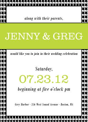 Wedding Invitation - Geo Pattern