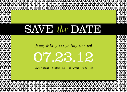 Save the Date Card - Geo Pattern