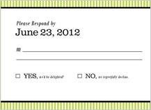 Response Card - geo pattern