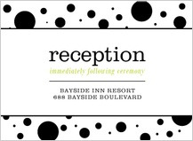 Reception Card - geo pattern