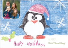 Holiday Cards - holiday penguin by payton