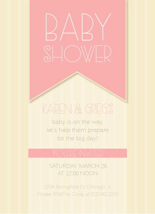 Baby Shower Invitation - Circus Baby Shower