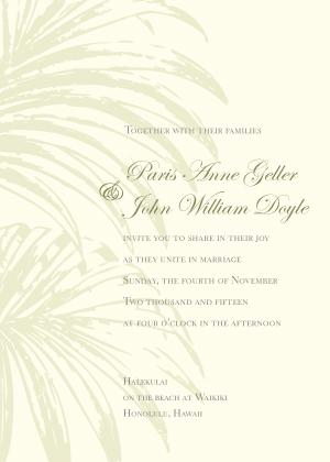 Wedding Invitation - Palm Trees