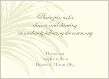 Reception Card - palm trees