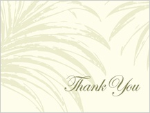 Wedding Thank You Card - palm trees
