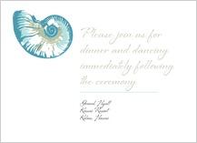 Reception Card - sea shells