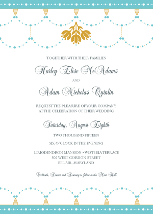 Wedding Invitation - Beaded Garland