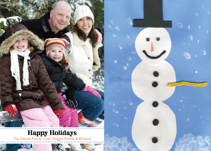 Christmas Cards - Holiday Snowman