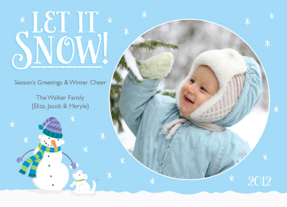 Holiday Cards - Playing in the Snow
