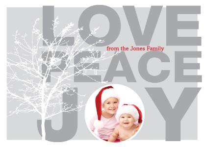 Holiday Cards - Love Peace Joy