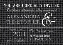 Anniversary Party Invitation - classic anniversary