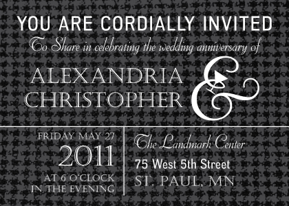 Anniversary Party Invitation - Classic Anniversary