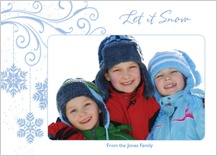 Holiday Cards - blue snowflakes