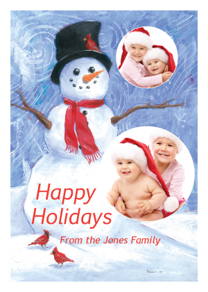 Holiday Cards - Happy Snowman
