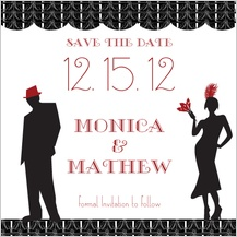Save the Date Card - roaring 20's save the date