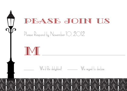 Response Card - Roaring 20's Save the Date