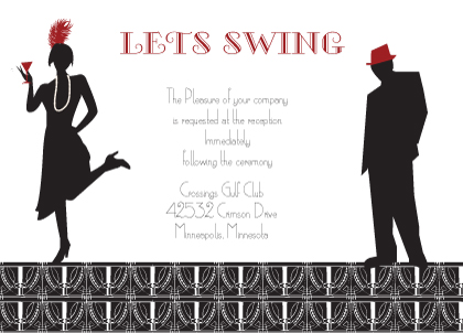 Reception Card - Roaring 20's Save the Date