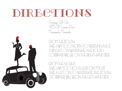 Direction - Roaring 20's Save the Date
