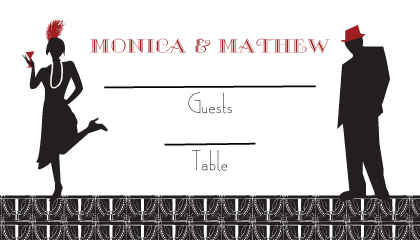 Place Card - Roaring 20's Save the Date