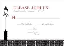 Response Card with menu options - roaring 20's save the date