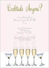 Holiday Party Invitations - cocktails anyone?