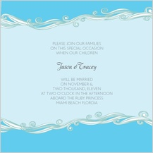 Wedding Invitation - set sail save the date